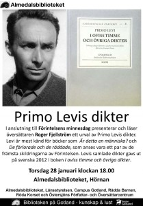 Primo Levi affisch Visby jan 16